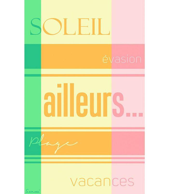 """Drap de Plage """"Soleil"""""""