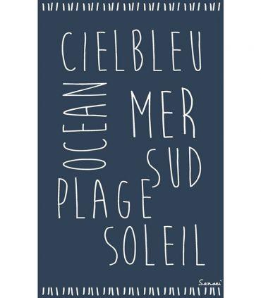 "Drap de Plage ""Ze ciel bleu"""