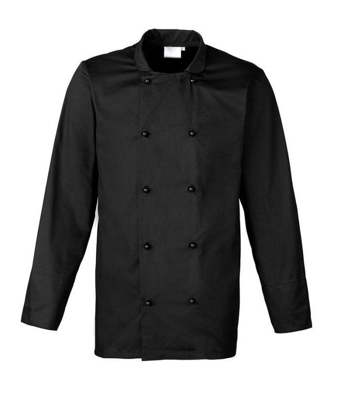 Veste de cuisinier à manches longues Cuisine noir
