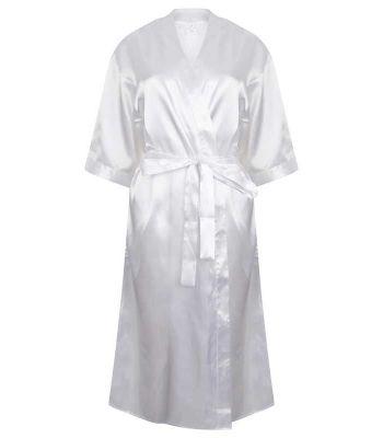 Peignoir Kimono satin blanc