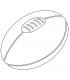 ballon de rugby dos