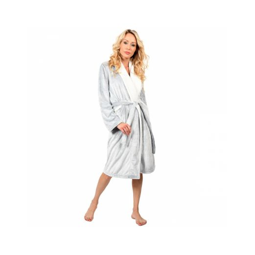 Peignoir Milady long 100% microfibre Silver Grey