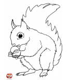 broderie seule écureuil dans le dos couleur beige