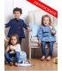 Blouse enfant Denim upcycle Boutons Bleus