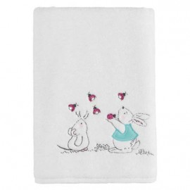 "Drap de Douche ""Mr Rabbit"" 70x130cm 450gr/m²"