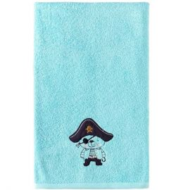Grand carré de bain Ours Pirate 100x100cm 100% coton