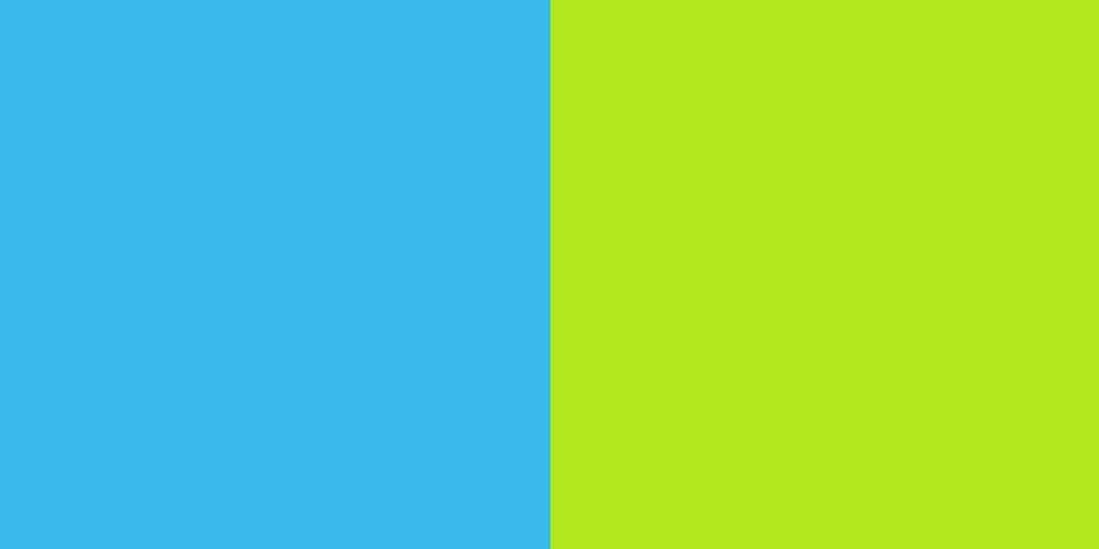 Aqua Blue/Lime Green