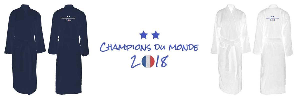 peignoir champions du monde